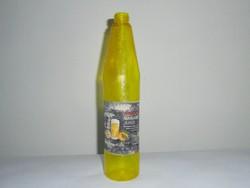 Retro OLYMPOS narancs juice narancslé üdítő - papír címke, műanyag palack - 1985-ös