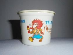 Retro műanyag doboz - Leo Jégkrém télen nyáron - Budatej gyártó - 1980-as évekből