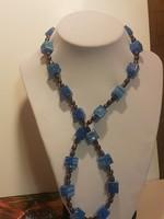 Muránói üveg és valódi gyöngy nyakék.