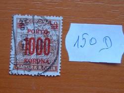 MAGYAR KIR. POSTA 1000 / 3 KORONA 1923 -1924 1922-s pirosra nyomtatva 150D