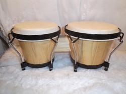 Dob - TYCOON - bongo - kaucsuk test - bivalybőr - magasfényű lakk - újszerű - 20 x 17 cm 18 x 17 cm