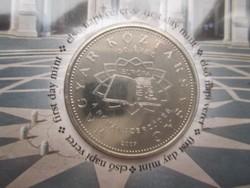 50 forintos, a Római Szerződés 50. évfordulójára, első napi veret, sorszámozott díszcsomagolásban