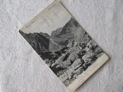 Képes levelezőlap a Monarchiából, 1906-ból: Magas Tátra, Kis-Tarpatak völgy