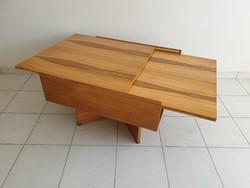 Retro régi hosszabbítható magasfényű asztal mid century