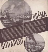 BUDAPEST-BRÉMA  képes idegenforgalmi prospektus 1930as évek