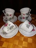 Bazsarózsás Alföldi 6 személyes teás, retró