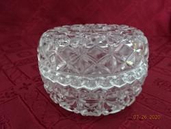 Kristály üveg bonbonier, magassága 6 cm.