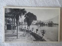 Képes levelezőlap: Lago di Garda - 1936-os keltezéssel, felbélyegezve