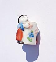 Óherendi porcelán mini kínai / mandarin figura