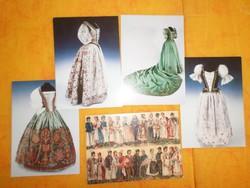 Magyar Nemzeti Viseletek használt, széthajthatós lap, Női díszruha, Tüdős Klára Pántlika szalonjából