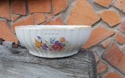 Zsolnay porcelán virágos  tál, pogácsás tál, komatál, Gyűjtői darab, nosztalgia