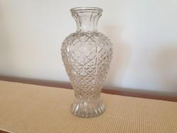 Régi vintage nagy méretű vastag art deco üvegváza üveg váza