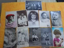 Századfordulós és későbbi zömében gyerek képeslap.