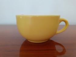 Régi Gránit csésze sárga kávés bögre 1 db