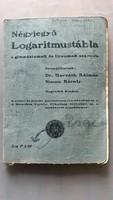 Antik  Négyjegyű  Logaritmustábla 1940.