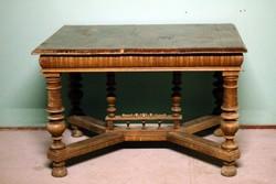Antik ónémet asztal nagy masszív esztergált lábú