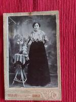 Antik kabinet fotó , portré ,  vizitkártya Erdélyi Lipót Tótkomlós