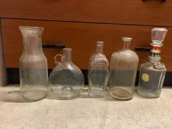 Régi üvegek egyben