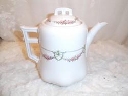 Porcelán - JELZETT - kanna tetőben - 1,3 liter - gyönyörű - hibátlan