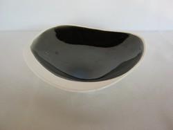 Gránit kerámia art deco fekete-fehér tál