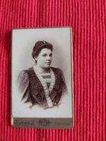 Antik kabinet fotó , portré ,  vizitkártya Friedrich János Szentes