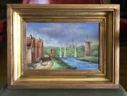 Flamand tájkép, festmény