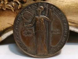 Gál VIII. ker.Közs.Főreális fennállásának emlékére plakett
