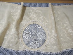 Antik selyem hímzett drapéria