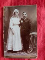 Antik kabinet fotó házaspárról Haider  Vilmos Békéscsaba