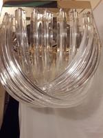 Mid Century Venini Curved Chandelier Muránó káprázatos üveg kézműves csillár mennyezeti lámpa