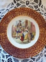 Eladó Angol Burslem falra akasztható jelenetes dísz tányér!