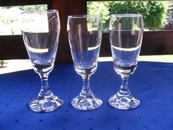 3 db. régi pohár