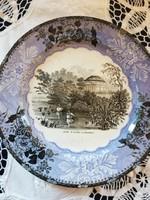 Eladó Angol jelenetes falra akasztható dísz tányér!