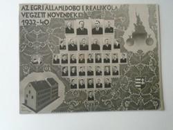 G029.117 EGRI Állami Dobó Reáliskola végzősei 1932-40  Török Árpád igazgató  Fotó Garay Gitta Eger