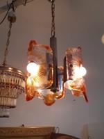 Különleges 3 égős design csillár a 60-as évekből murano