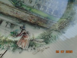 A CHAMBORD kastély,Graziano festménye nyomán,Limoges dísz tál