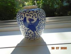 6 db kézi írásjellel Phoenix madár mintával japán váza