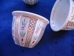 4 db. porcelán pohárka