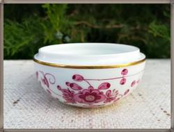 """Antik Meissen """"Indian Purple"""" porcelán bonbonier alj kb. 1850-60-as évek"""