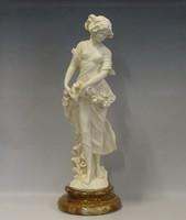 0I182 Nagyméretű alabástrom szecessziós női szobor