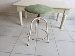 Régi vintage orvosi kórházi forgó szék retro forgószék állítható magasságú