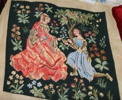 Reneszánsz goblein kép lánykérés
