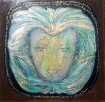 MESÉL A TERMÉSZET. 50x50 cm-es porcelán, vászonkép, Wass Albert idézettel. Károlyfi Zsófia Prima díj