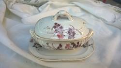 Antik porcelán mustáros,szószos,cukortartó-tetszés szerint