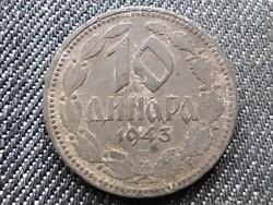 Szerbia II. VH Német megszállás szép 10 dínár 1943 БП (id28206)