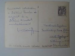 G029.123 Kádár Gyula dékán -Kertészeti Egyetem borászat -által küldött képeslap Szlovénia Ljubljana