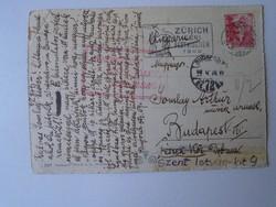 G029.125 Somlay Artúr színésznek írt áradozó képeslap Svájcból  Kadossa Edéné  1949  Zürich