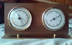 Regen Veranderlich Schön barometer és hőmérő réz talpon