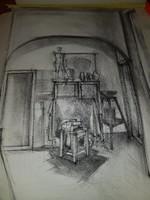 Műterem belső