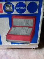 Játék pénztárgép, papír és pénzérmékkel
